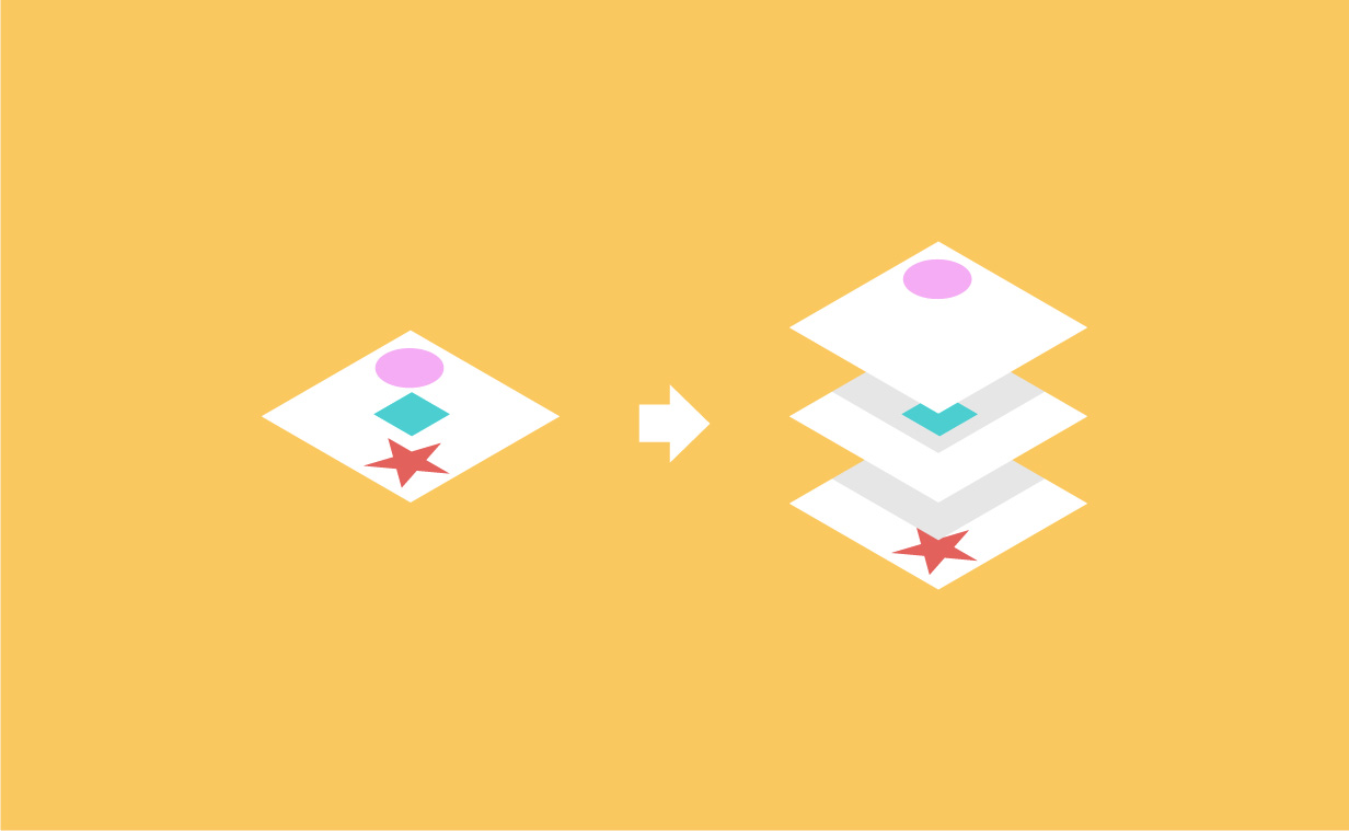Illustrator 一瞬で各要素を別々のレイヤーに分ける方法