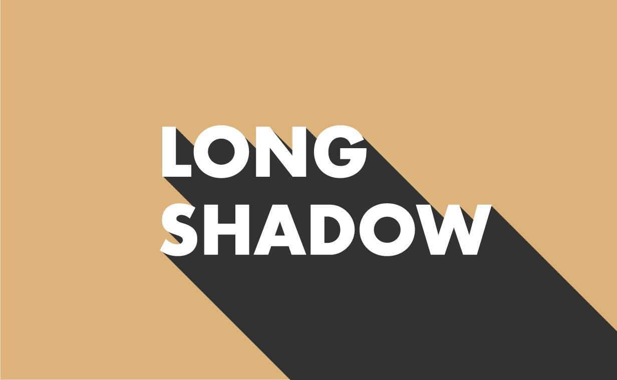 1分で出来る!Illustratorで長い影を文字の後ろに作る方法!