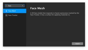 Spark AR face mesh